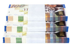 Изолированная лестница 100 стогов счетов NIS Стоковая Фотография