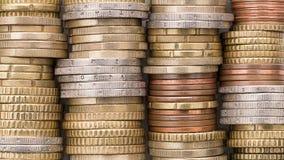 Стога сияющих монеток стоковое фото