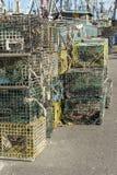 Стога формата ловушек омара вертикального стоковые изображения