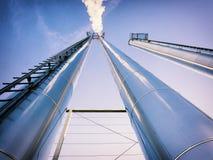 Стога дыма индустрии Стоковая Фотография
