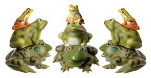 Стога Figurines лягушки стоковое изображение rf