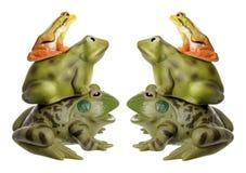 Стога Figurines лягушки стоковая фотография rf