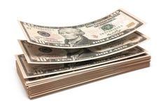 10 стогов банкнот доллара Стоковое Фото