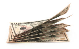 10 стогов банкнот доллара Стоковое Изображение RF