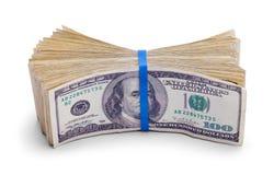 100 стогов доллара наличных денег Стоковое Фото
