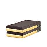 Стог адвокатского сословия шоколада с завертчицей. Стоковые Изображения RF