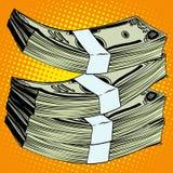 Стог банкноты денег долларов иллюстрация вектора