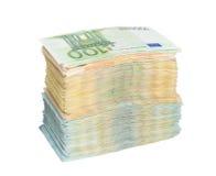 Стог банкнот денег евро Стоковое Фото