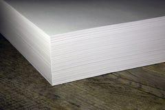 Стог белой бумаги для принтера Стоковое Изображение