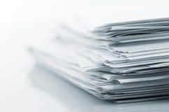 Стог белых бумаг Стоковые Изображения