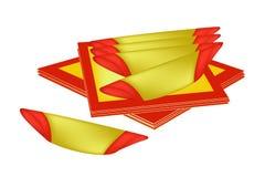Стог бумаги амулета на китайский Новый Год Стоковое Фото