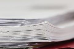 Стог бумаги стоковое изображение