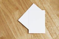 стог визитной карточки на древесине Стоковое фото RF