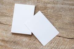 стог визитной карточки на древесине Стоковое Изображение RF