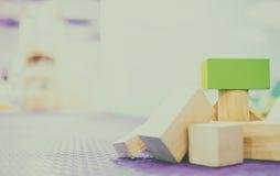 Стог воспитательного тона года сбора винограда блока игрушки Стоковая Фотография RF