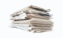 стог газеты стоковое изображение rf