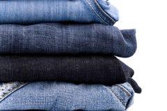 стог голубых джинсов стоковое изображение rf