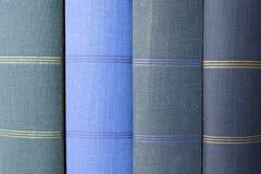 Стог голубых обложек книги/книг фото Стоковая Фотография