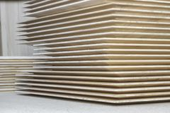 Стог деревянных экранов стоковые фотографии rf