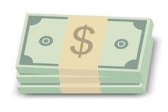 стог доллара счетов иллюстрация вектора