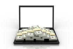стог доллара Стоковое Изображение