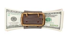 стог долларов пояса затягивает Стоковое Изображение