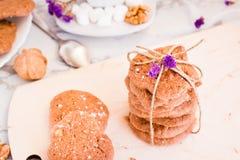 Стог домодельных печений шоколада Стоковые Фото