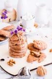 Стог домодельных печений шоколада Стоковая Фотография
