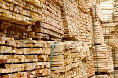 Стог древесины тимберса Стоковые Изображения RF