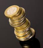 стог евро монеток Стоковое Изображение