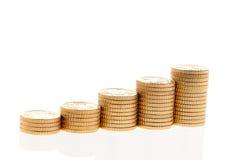 стог евро монеток Стоковые Изображения RF