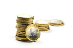 стог евро монеток Стоковое фото RF