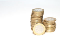 стог евро Стоковые Изображения