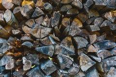Стог деревянной текстуры Стоковое Фото