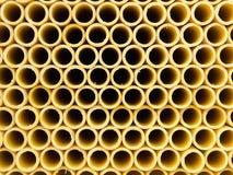 Стог желтых труб PVC Стоковые Фотографии RF