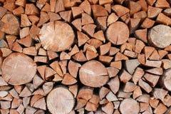 стог журналов firewoods предпосылки деревянный Стоковое фото RF