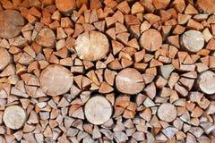 стог журналов firewoods предпосылки деревянный Стоковое Изображение RF