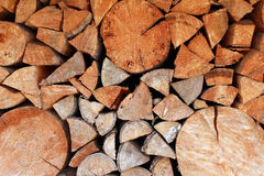 стог журналов firewoods предпосылки деревянный Стоковая Фотография RF