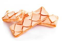 Стог застекленного печенья слойки изолированного на белизне Стоковое Изображение