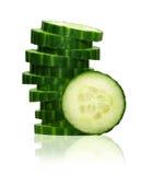 Стог зеленых ломтиков огурца Стоковое Изображение RF