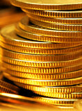 стог золота монеток стоковые изображения rf