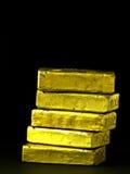 стог золота штанг Стоковые Фотографии RF