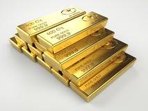 стог золота штанг Стоковые Изображения