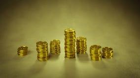 Стог золотых монеток 3D представляет иллюстрация вектора