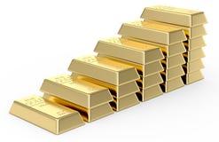 Стог золота в слитках бесплатная иллюстрация