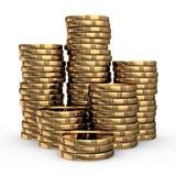 Стог золотой монетки Стоковые Изображения RF