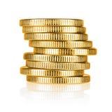 Стог золотой монетки Стоковое Фото