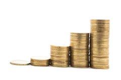 Стог золотой монетки Стоковое фото RF