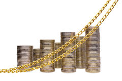 Стог изображенных монеток Стоковое фото RF