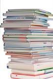 стог изолированный книгами Стоковая Фотография RF